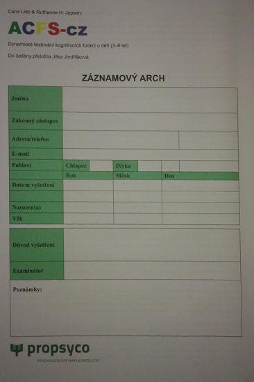 Obrázek ACFS - Záznamový sešit 40 ks